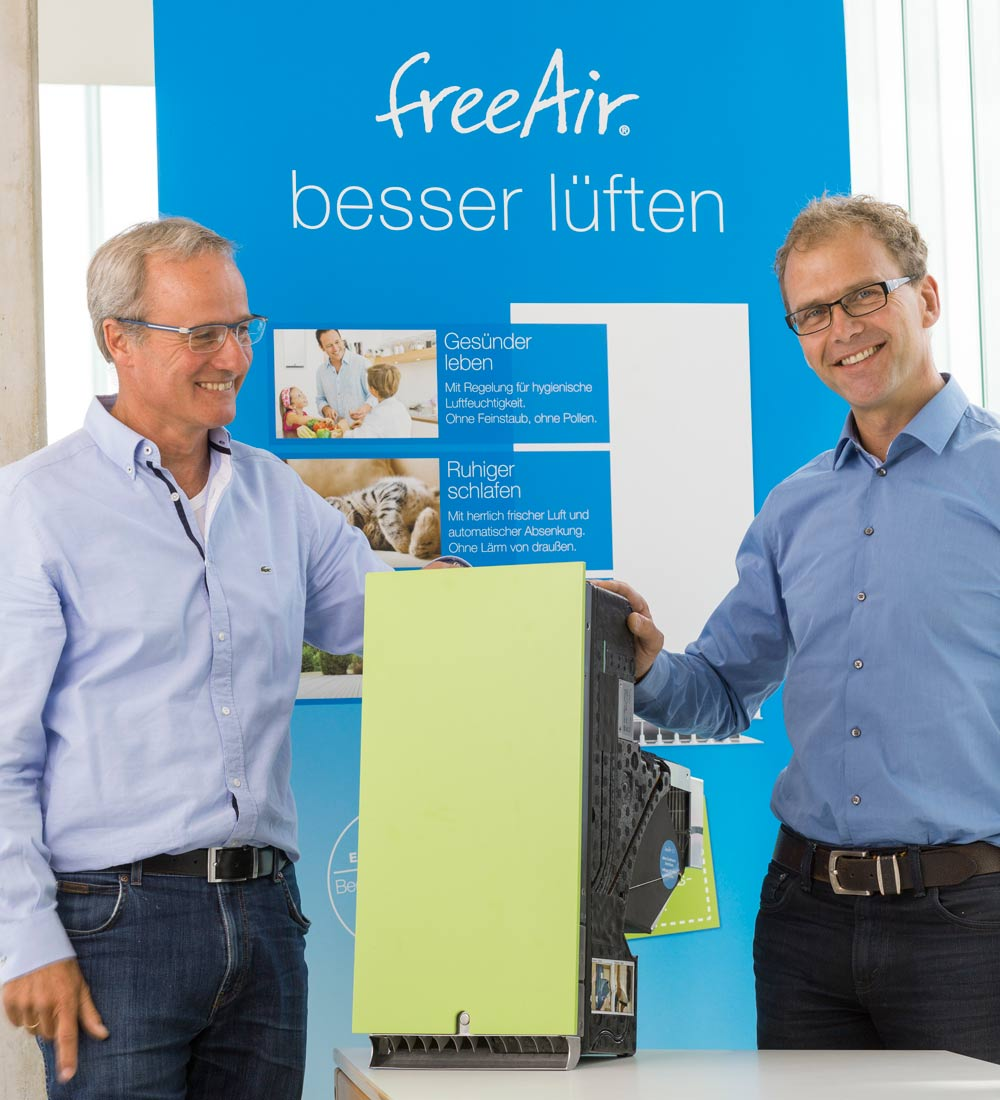 Bernhard Martin und Thomas Schally mit Lüftung freeair