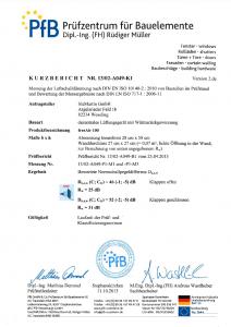 PfB-Schalldämmprüfungsbericht