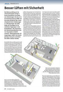 Wohnraumlüftung mit WRG im Geschosswohnungsbau