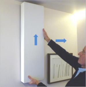 Abnehmen des Premium Covers der Wohnraumlüftung