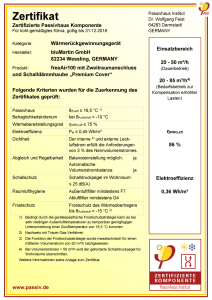 Passivhaus-Zertifikat 2018 Premium Cover