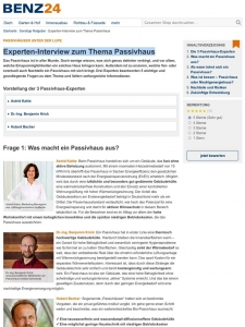 Experten-Interview zum Thema Passivhaus