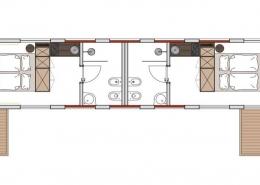 Grundriss der beiden Suiten