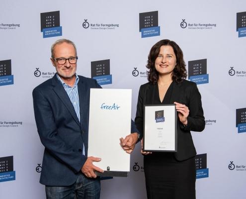 Iconic Award 2019 für Lüftungsanlage freeAir