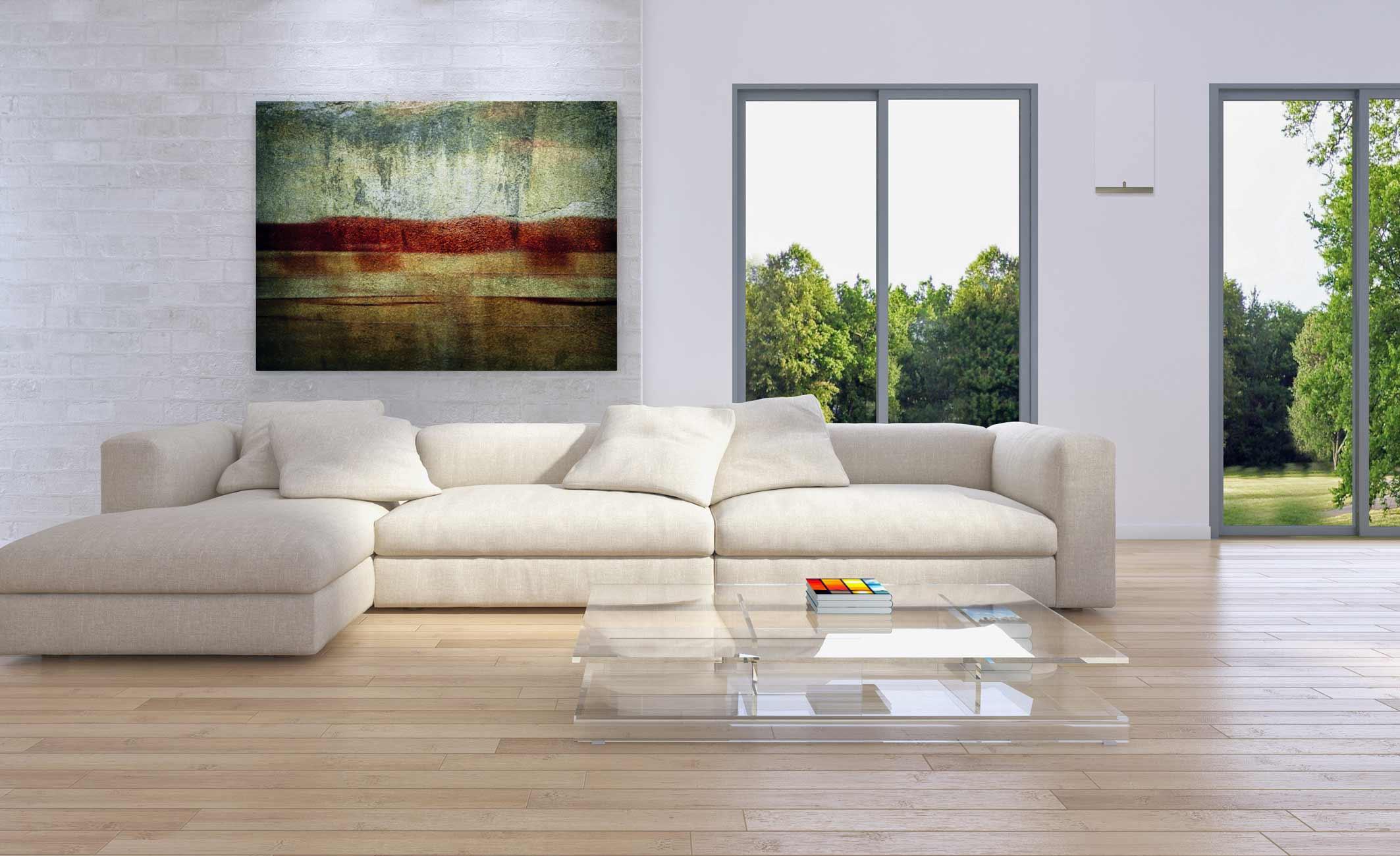 Wohnraumlüftung im Wohnzimmer - dezent integriert