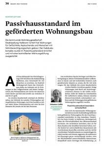 Komfortlüftung im Wohnungsbau