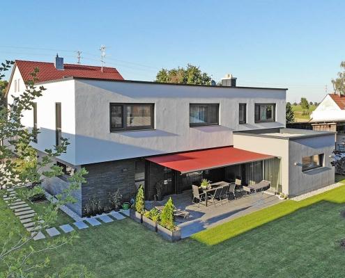 Außenansicht des Wohnhauses in Schwabmünchen