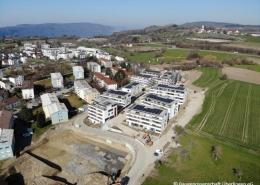 Aufnahme aus der Luft mit Blick auf den Baufortschritt