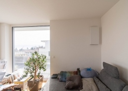 Wohnzimmer mit freeAir Wohnraumlüftung